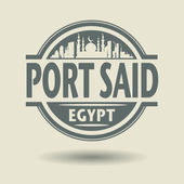 Stamp or label with text Port Said, Egypt inside — Vector de stock