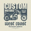 Vintage Motorcycle label or poster — Stock Vector #46408063