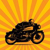 Vintage Motorcycle race background — Vector de stock