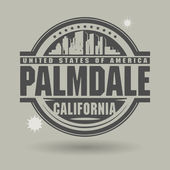 Stamp or label with text Palmdale, California inside — Stock Vector