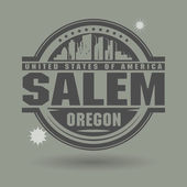 Stamp or label with text Salem, Oregon inside — Stock Vector