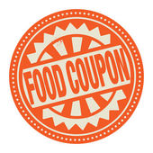 Abstract stamp or label with the text Food Coupon written inside — Stock Vector