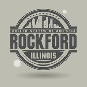 Stamp or label with text Rockford, Illinois inside — Stock Vector