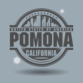Stamp or label with text Pomona, California inside — Stock Vector