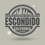 Stamp or label with text Escondido, California inside — Stock Vector