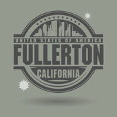 Stamp with Fullerton — Stock Vector