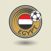 Football  Egypt stamp — Stock Vector