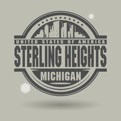 Stamp or label with text Sterling Heights — Stock Vector