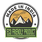 Pieczęć lub etykiety z tekstem w indiach — Wektor stockowy