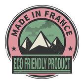 Pieczęć lub etykiety z tekstem w francji — Wektor stockowy