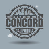 Stamp Concord, California — Stock Vector