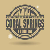 Stamp Coral Springs, Florida — Stock Vector