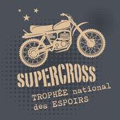 Motocross vintage background — Stock Vector