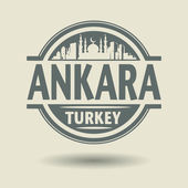 Stamp or label with text Ankara, Turkey inside — Stock Vector