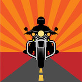 Vintage Motorcycle poster — Stock Vector