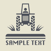 Tractor icon or sign — Stock Vector