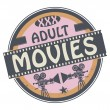 Постер, плакат: Stamp or label with text Adult Movies