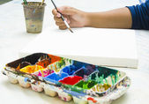 Painting with watercolor — Stock Photo