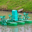 Paddle Wheel Aerator — Stock Photo