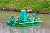 Paddle Wheel Aerator — Stock Photo