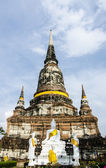 Wat Yai Chai Mongkhon in Ayuthaya Thailand — Stock Photo