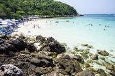 Summer beach scene — Stock Photo