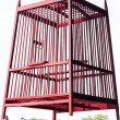 Stockfoto: Red birdcage
