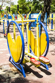 Colorful exercise machines — Photo