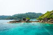 Snorkeling at Koh Chang island. — Stock Photo