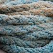 Stock Photo: Coils of blue rope