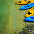 Kayak and ocean — Stock Photo