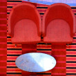 Red chairs — Stock Photo #25033687