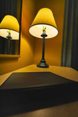 Lamp in a Hotel Room — Stock Photo