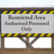 Securty Sign — Stock Photo
