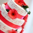 Stock Photo: White wedding cake