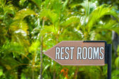 Rest Room sign — Stock Photo