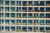 Balcony of cruise ship — Stock Photo