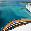 View from stern of big cruise ship — Stock Photo
