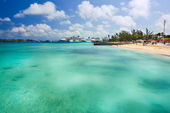Nassau Bahamas Private Beach — Stock Photo