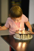 Young girl on her birthday — Stock Photo