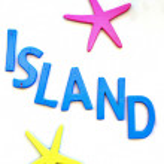 Island sign — Stock Photo