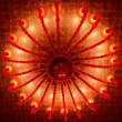Stock Photo: Red ceiling lamp