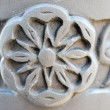 Carved stone detail — Stock Photo