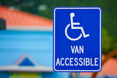 Van Accessible Sign — Stock Photo