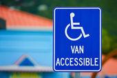 Van Accessible Sign — Stock Photo