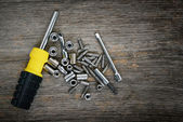 Screwdriver and bits — Stock Photo