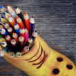 Many colored pencils — Stock Photo #41702041