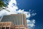 Facade of hotel — Stock Photo