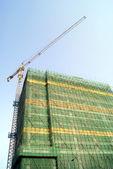 O edifício está em construção — Fotografia Stock