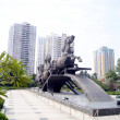 Shenzhen china: horse sculptures - Stock Photo